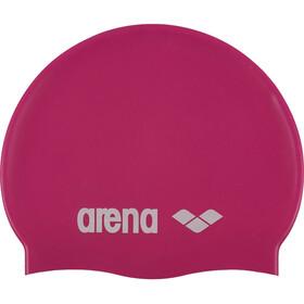 arena Classic Silicone Swimming Cap Kids fuxia-white